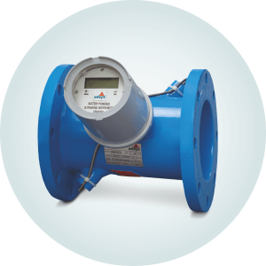 Inline Type Battery Operated Ultrasonic Flow Meter