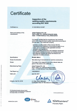 iso 3834 certification bodies in india